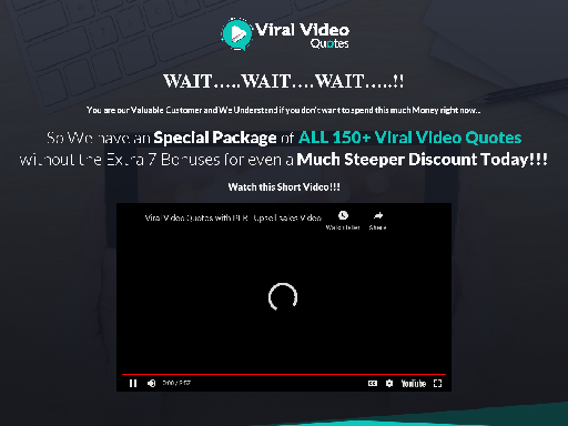 Viral Video Quotes with PLR - Downsell  best price
